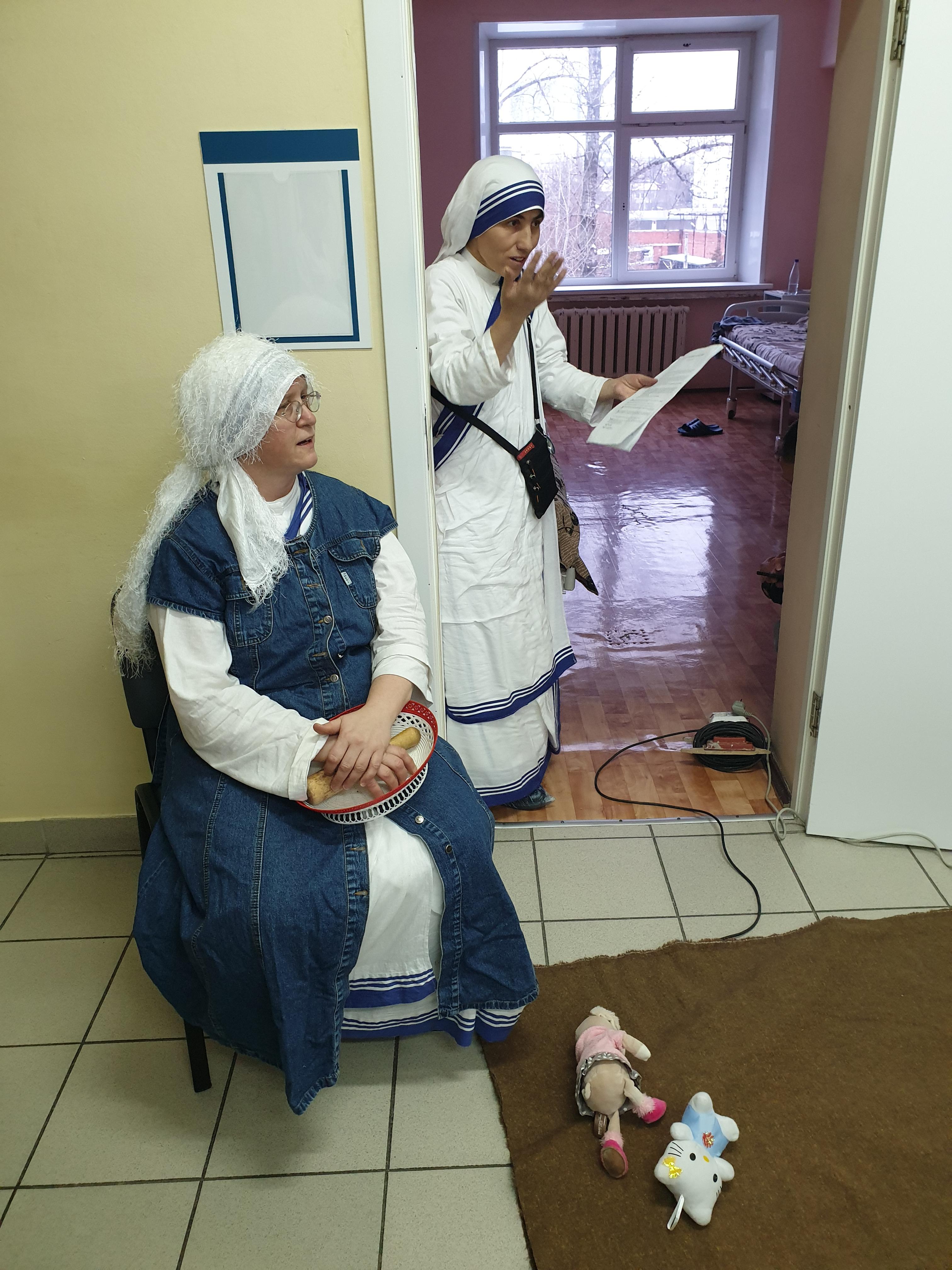 Рождественское посещение больницы им. Ганнушкина сестрами милосердия